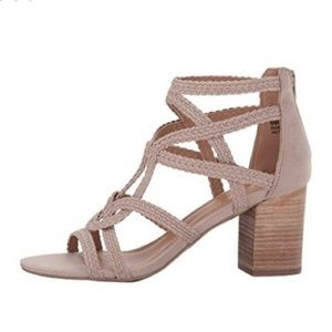 EUC Report Pacie Strappy Sandals Taupe